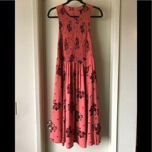 BNWT Torrid smocked challis rust colored dress sz1